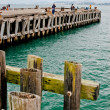 Torpedo Wharf, Fishing on the pier on a cloudy day — Stock Photo