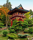Pagoda in the Japanese Tea Garden — Stock Photo