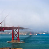 Thick fog covering Golden Gate Bridge — Stock Photo