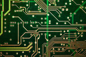 PCB Abstract green circuit board tracks — Stock Photo