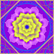Floral mandala in shades of purple - Stock Photo