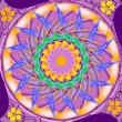 Mandala sacred circle in shades of purple - Stock Photo