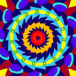 Geometric colorful mandala, sacred circle - Stock Photo