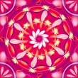 Floral mandala drawing sacred circle - Stock Photo