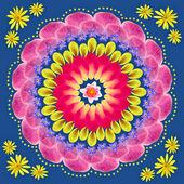 çiçek mandala çizim kutsal çember — Stok fotoğraf