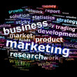 Stock Photo: Business Marketing Word Cloud Concept