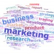 Business Marketing Word Cloud Advertising Concept - Stock Photo