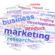 Business Marketing Word Cloud Concept — Stock Photo