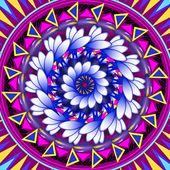 Mandala Round Ornament Pattern Floral Drawing — Stock Photo