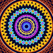 Mandala rotondo ornamento modello disegno — Foto Stock