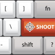 Shoot symbol on keyboard — Imagen vectorial