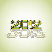 2012 logosu — Stok Vektör