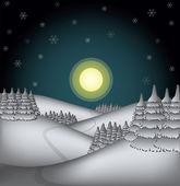 Winter countryside — Stock Vector