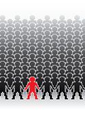 Assembly of human figures — Stock Vector