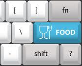 Food symbol on keyboard — Vecteur