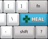 Heal key — Stock Vector
