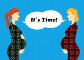 Mooie zwangere vrouwen — Stockvector