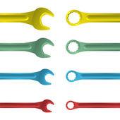Llaves de color acero inoxidable — Vector de stock