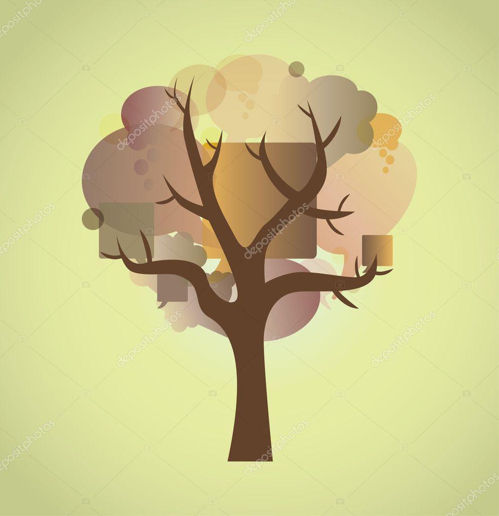 树的泡沫 - 图库插图