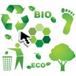 Bio eco icon set — Stock Vector