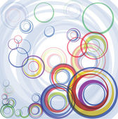 Abstract color circles — Vector de stock