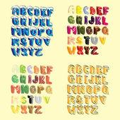 Cartoon hand lettered alphabeth — Stock Vector