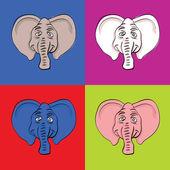 Elephant heads — Stock Vector
