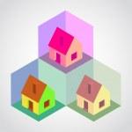 細胞の等尺性の家 — ストックベクタ