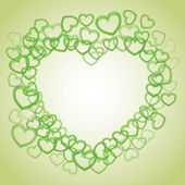 Heart from smaller hearts — Stock Vector