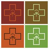 Medical symbol cross — Stock Vector