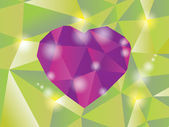 Abstract diamond heart — Stock Vector