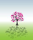 心的树 — 图库矢量图片