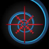 Streszczenie symbol celownika — Wektor stockowy
