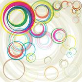 Abstract color circles — Cтоковый вектор