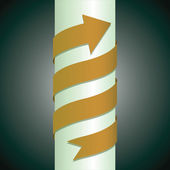 Arrow wrapped around the pillar — Stockvector