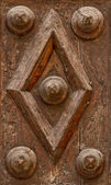 Wood Door detail — Stock Photo