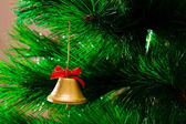 The bell hanging on a Christmas tree — Stock Photo