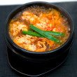 Acute, boiling soup Korean — Stock Photo