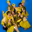 Dance troupe of Russian folk art — Stock Photo