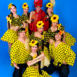 Dance troupe of Russian folk art — Stock Photo #8345767