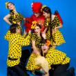 Dance troupe of Russian folk art — Stock Photo #8345943