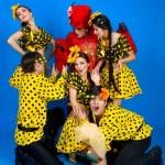 Dance troupe of Russian folk art — Stock Photo #8345943