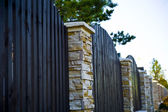 Decorative fence with columns — Stock Photo