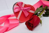 Gift Set on the day of St. Valentine — Stock Photo