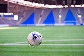 Hava stadı nda futbol topu — Stok fotoğraf