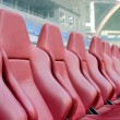 Leather seats for coaches — Stock Photo