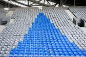 Football stadium stands — Stock Photo