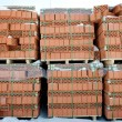 Pallet of red brick — Stock Photo