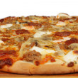 Pizza with sausage — Foto Stock