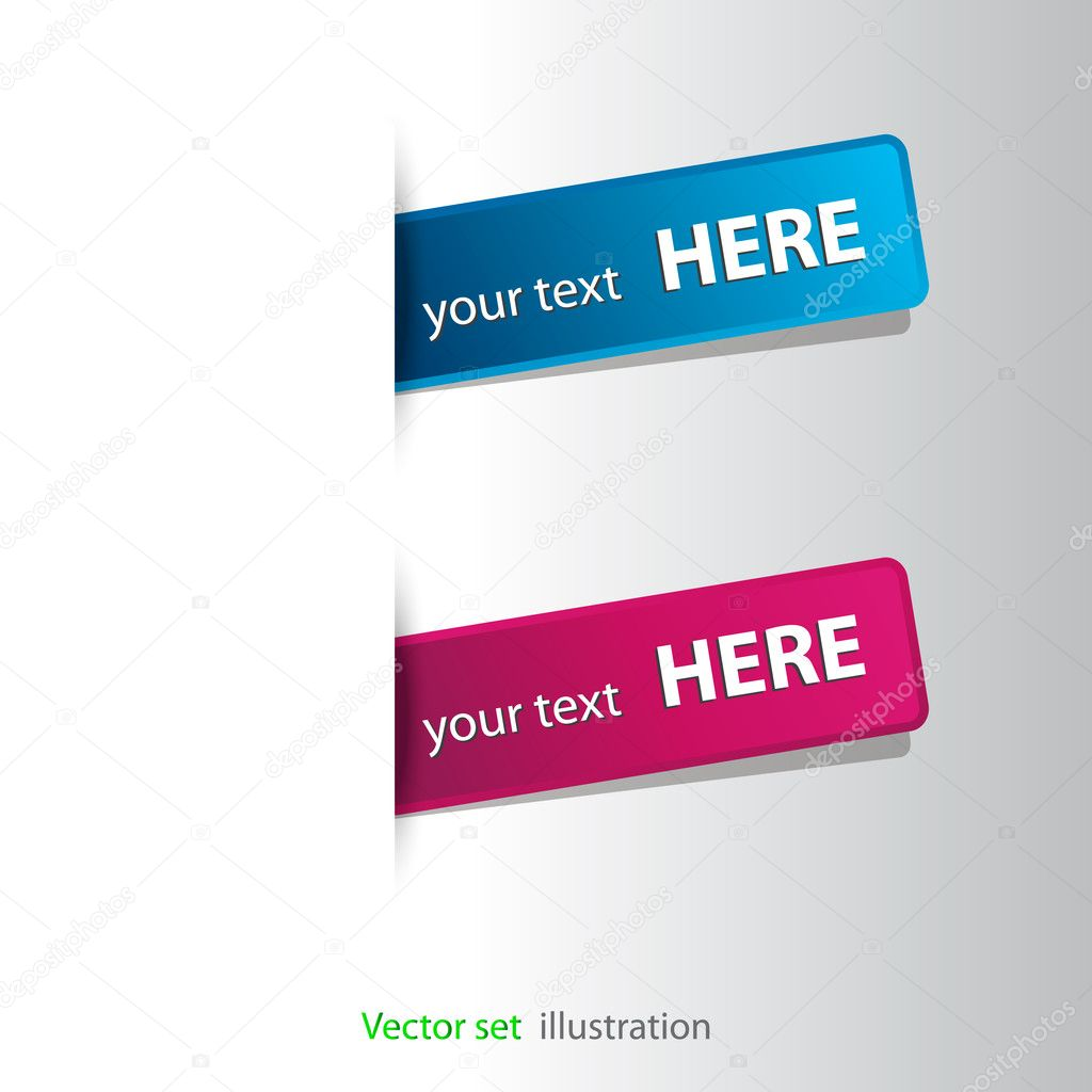 Stickers on the edge of the (web) page — Stock Photo #8797986